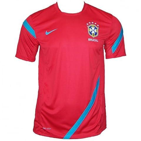 Nike Basilien Trikot 2012 - 2013 rot, Größe:L