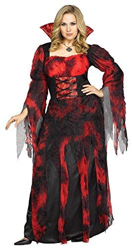 Kostüm Countessa - Unbekannt Fun World Damen 1x/countessa Plsz Cstm Kostüme für Erwachsene, Multi, X-Large