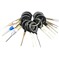 Laurelmartina 11 unids/Set Auto Car Plug Terminal extracción Pick Back Needle Harness Arnés de Cable Conector Crimp Pin Repair Tool Set