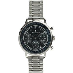 Mathey Tissot Reloj Analógico para Hombre de Cuarzo con Correa en Acero Inoxidable MT0009
