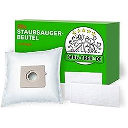 SAUG-FREUnDE 20 Sacs d'aspirateur pour MOULINEX Compacteo MO 1521..1565, Compacteo Allergy Care, Compacteo Rouge, Compacteo Ergo MO 5244, MO 5263 Compacteo Ergo 2