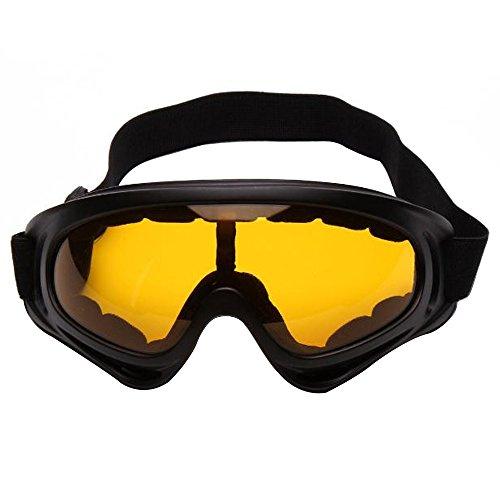 sijueam® Ski und Snowboardbrille Military Tactical CS Shooting UV-Schutzbrille kratzfest Anti Nebel winddicht schwarz Rahmen Winter Outdoor Ausreit Radfahren Motorrad Equipment, multicolor. Braun braun