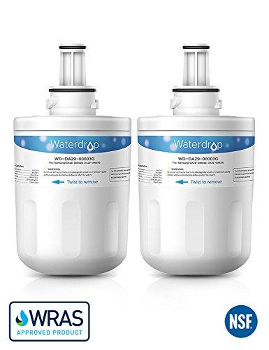 2 x Waterdrop WD-DA29-00003G Kühlschrank Wasserfilter Ersatz für Samsung Aqua-Pure Plus DA29-00003G, DA29-00003B, DA29-00003A, DA29-00003D, HAFCU1