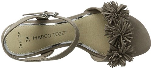 Marco Tozzi 28315, Sandali con Tacco Donna Beige (Taupe 341)