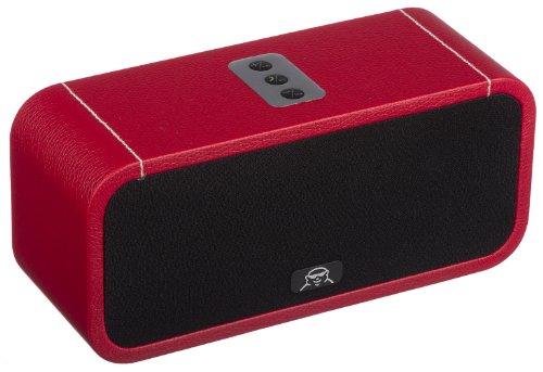 Fatman Music Box One Tragbarer Drahtloser Bluetooth Lautsprecher Kompatibel mit Smartphone, iPod und iPad - Rot