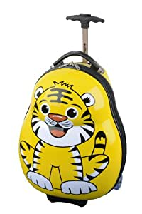 Skyflite Skykidz - Set trolley e zaino per bambini, motivo: tigre