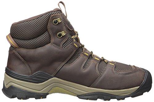 Keen Gypsum II Mid WP, Stivali da Escursionismo Alti Uomo Brown