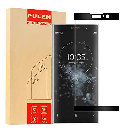 PULEN Compatible with Sony Xperia XA2 Plus Panzerglas Schutzfolie [3D Curved] Gehärtetem Glas Displayschutzfolie [Anti-Fingerabdruck / Anti-Kratzer ] HD Klar Blasenfreie Panzerglasfolie (Schwarz)