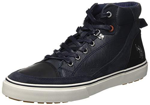 U.S. POLO ASSN. Walker, Sneaker a Collo Alto Uomo, Blu (Dark Blue Dk Bl), 43 EU