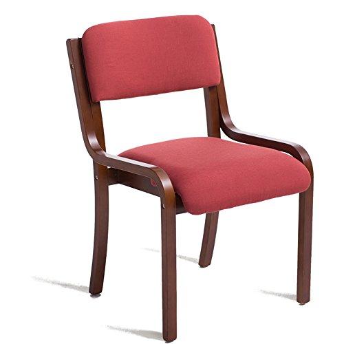 MEIDUO Durable Selles Chaise de dossier de chaise de salon de meubles Chaise de salon de café Chaise de salle à manger de tissu en bois solide Chaises pour intérieur extérieur (Couleur : 1006)