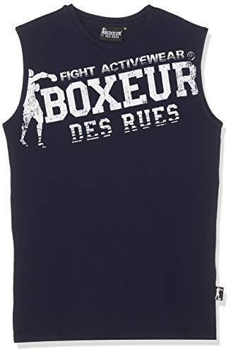 BOXEUR DES RUES BXT-334TNK Camiseta de Tirantes con Logo, Hombre, Azul, M