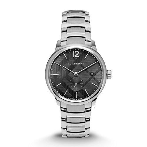 Burberry los hombres de acero inoxidable reloj de pulsera suizo 40mm bu10005