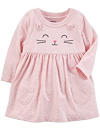 Carter Baby Girls Heathered Kitty Dress 6 Months