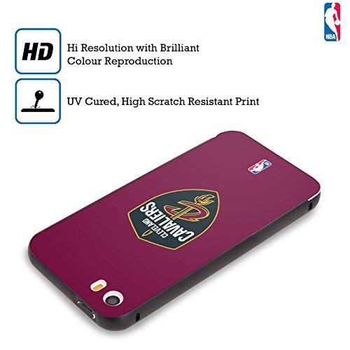 Ufficiale NBA Icona Oversize Cleveland Cavaliers Nero Cover Contorno con Bumper in Alluminio per Apple iPhone 5 / 5s / SE Semplice