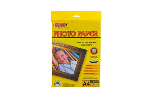 Bambalio BPG 180-50 Glossy Photo Paper, A4 Size, 180 GSM - Pack of 50