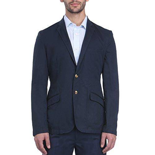 Park Avenue Men Dark Blue Cotton Blend Jackets