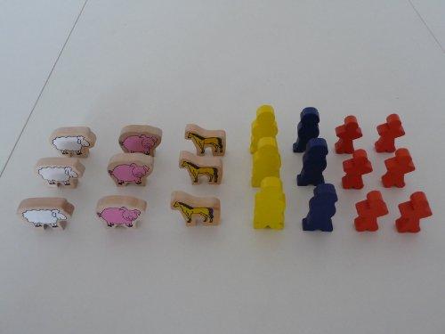 point-kids Holzeisenbahn Mensch / Tier Holz Set 21 Teile