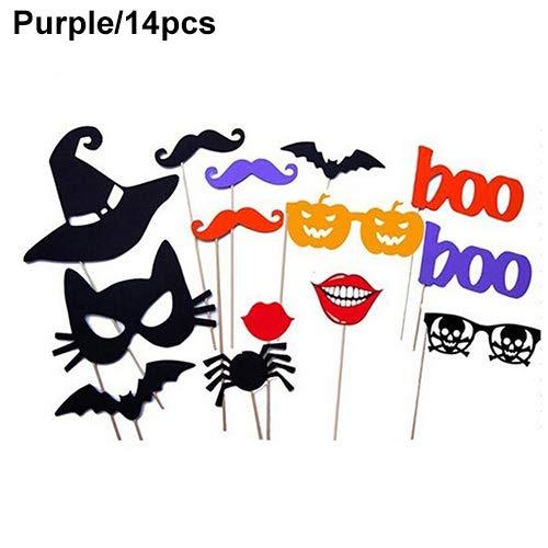 Party Supplies Decor Baby Bart Brille Lippe Cap Maske Foto Requisiten Lyhhai violett (Häkeln-mützen Für Baby-jungen)