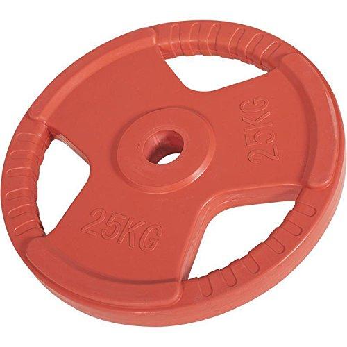 Hantelscheiben Gripper Gummi mit Eingriff 1,25kg-25kg, 50/51mm (25KG Rot)