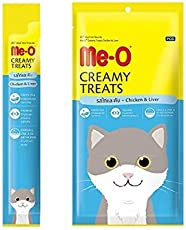 Perfect Companion Me-O Creamy Treats for Cats and Kittens Pack of 12 (Chicken and Liver)