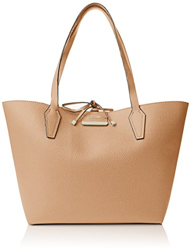 Guess Damen Bobbi Inside Out Tote Handtaschen, Einheitsgröße Mehrfarbig (Camel Multi)