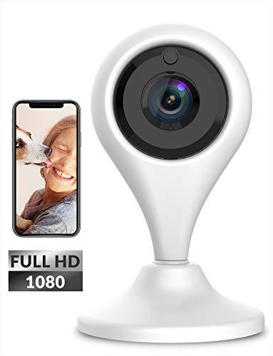Câmera de Segurança de Câmera de Vigilância de Câmera de Vigilância 1080p Wifi de Câmera IP Keyke com Visão Noturna, Áudio-Bidirecional, Notificações de Movimento, Serviço em Nuvem - iOS / Android App