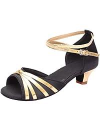 Neubula ❤ Cuero Zapatos de Baile Latino Mujer - Bailar Bachata y Salsa - Salsa