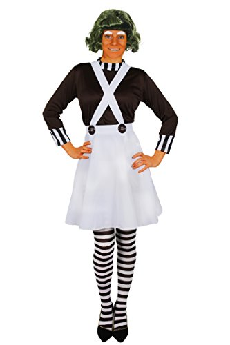 Oompa Dahl Roald Kostüm Loompa - ILOVEFANCYDRESS I Love Fancy Dress ilfd4044 X XL Damen Factory Worker Kostüme (XXL)