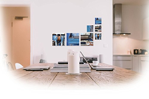 Fotokunst auf Alu-Dibond Butlerfinish® - 4x 10 x 10 cm, 3x 20 x 20 cm - Aluminium mit gebürstetem Oberflächenschliff Bild Kunst Büro Geschenk Bad Balkon Terasse Küche -