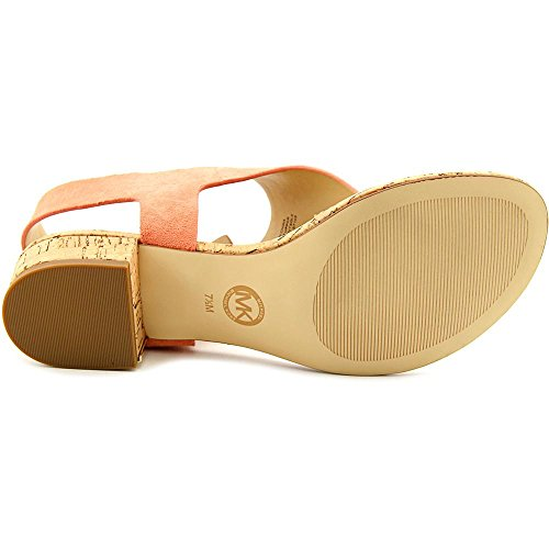 Michael Michael Kors London Thong Wildleder Badesandale Peach