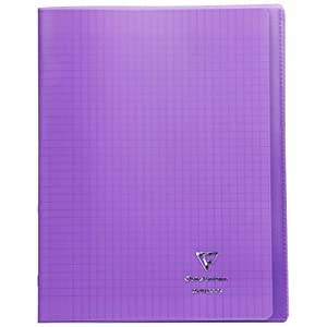 Clairefontaine Koverbook Stapled Notebook, A4+, 48 Pages, Séyès ruled - Purple