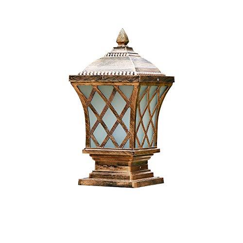 Garten-Weg-Säulen-Pfosten-Licht des Aluminiums IP54 im Freien rostfreie Garten-Pfosten-Licht-Tor-Decking-Patio-Einfahrt Poller-Bahn-Laterne traditionelles E27 (Größe : 20 * 49cm(L*H))