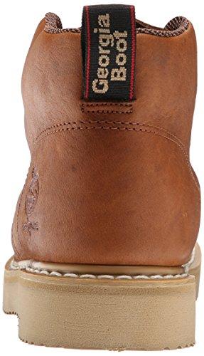 Géorgie GB1222Ferme et Ranch Chukka en cuir de hommes travail Bottes Chaussures Marron