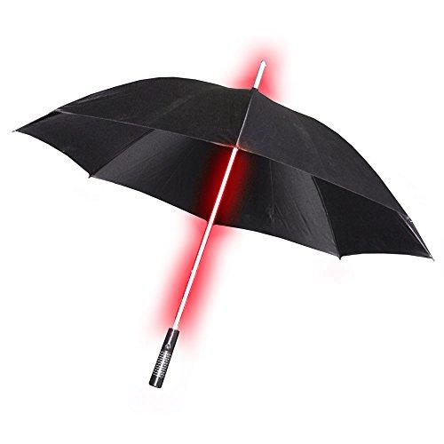 RGB LED Stoff Regen Schirm schwarz 7 Farben Taschenlampe Farbwechsel Laser Licht Schwert Globo 98030 - Laser-griff Taschenlampe
