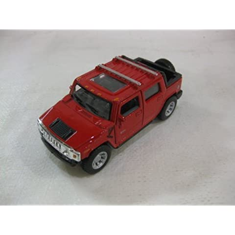 2005 Hummer H2 SUT In Red Diecast 1:40 Scale By Kinsmart by diecast 140 scale