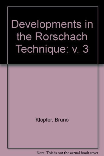 developments-in-the-rorschach-technique-volume-3-by-bruno-klopfer-1970-06-01