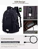 Sac à dos, Anti-vol pour ordinateur portable Sac à dos, sacs d'affaires avec USB Charging Port eau résistant à l'école pour le collège Voyage pour ordinateur portable et ordinateur portable Sac à dos