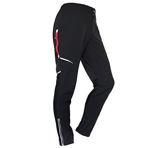 West Biken Sommer Herren Radfahren Hose Mountain Bike Fahrrad Hosen Atmungsaktiv Reiten Laufen Pants Long schwarz schwarz UK L=CN 2XL (H:5'9
