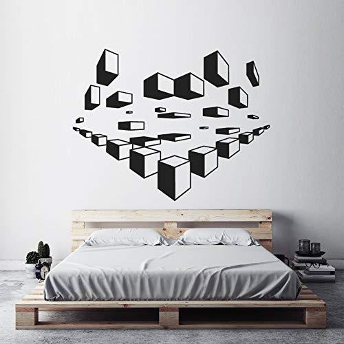 Pooh 3 Stück Rock (WWYJN Geometric Wall Art Decals Modern Design Wallpaper Home Bedroom Decoration 3D Wall Sticker Geometric Pattern Wall Mural84x67cm)