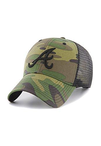 47 Brand Camo Branson MVP Trucker Cap ATLANTA BRAVES CBRAN01GWP-CM Camouflage, Size:ONE SIZE