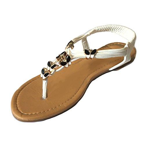 TOSKATOK® Ladies Womens Open Toe Thong Sandals Summer Flip Flop Ankle Strap...