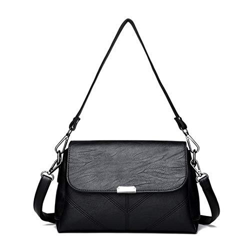 Skyinbags Eine Der Frauen - Schulter Geneigt Beutel, Reine Farbe Freizeit Mode, Schwarz