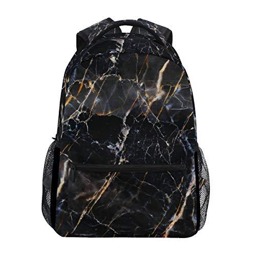 SIONOLY Rucksack,Abstrakte Schwarze dunkelbraune Marmorbeschaffenheit,Neu Lässige Daypack School Bookbag Verstellbare Umhängetaschen Reiserucksack