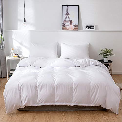 YUNSW Bettbezug Classic Solid Color Bettwäschesatz Für Erwachsene Single Double Queen King Volle Größe F 180x210 cm -