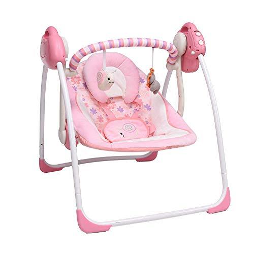 VASTFAFA Elektrische Babyschaukel Babywippe mit Moskitonetze 16 Melodien und 6 Schaukelgeschwindigkeiten
