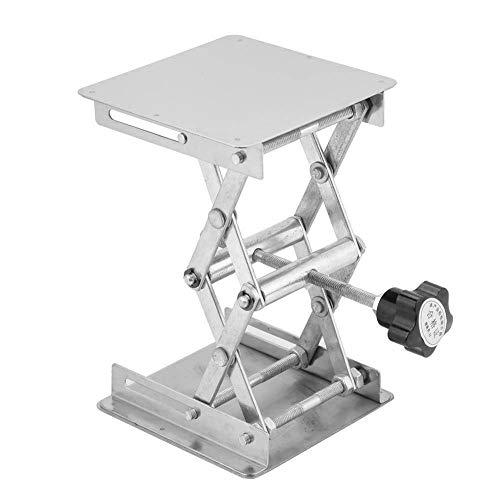 Lchzl Laborschere, 100 x 100 mm, Edelstahl, für Labor, Hebebühne, erweiterbare Hubhöhe von 158 mm bis 45 mm, Tragkraft 15 kg