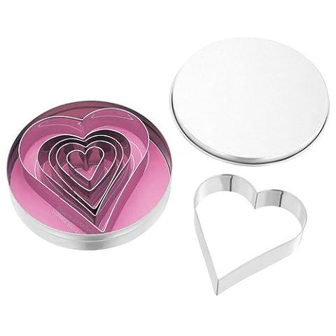 Judge Heart Shape Cutters, Silver,