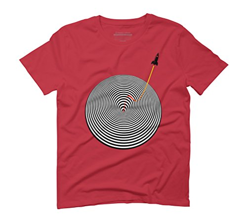 OUT OF THE WORMHOLE Men's Graphic T-Shirt - Design By Humans Red
