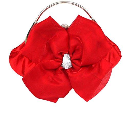 Frauen-Kupplungs-Geldbeutel-Beutel Hochzeit Handtasche Messenger Umschlag Taschen Red