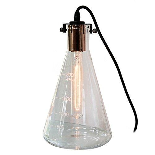 Retro Tischlampe Mr Hyde Schreibtischlampe Erlenmeyerkolben